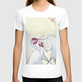 Scissor Cranes with Bloomers T-shirt