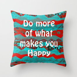 Keep Calm & Create Something Beautiful by Kylie Fowler Throw Pillow