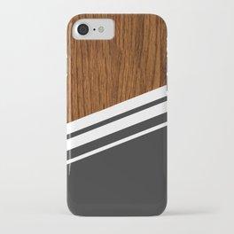 Wood StYle black iPhone Case