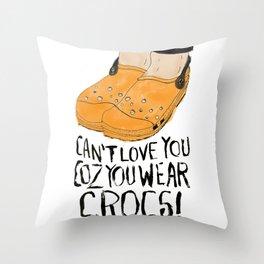Crocs??!! Throw Pillow