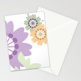Flowers and Swirls Stationery Cards
