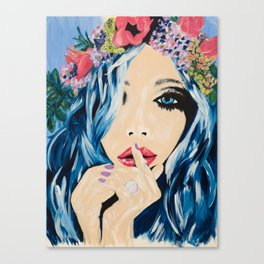 flowers in her hair Canvas Print