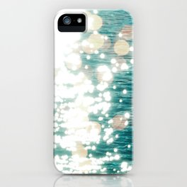 Sun glitter - golden light iPhone Case