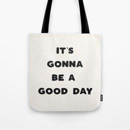 Good Day - Black & Cream Tote Bag