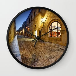 The Street of the Knights in Rhodes Greece Wall Clock