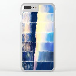 Time Lapse Sunset (painted) Clear iPhone Case