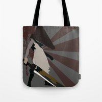 silent hill Tote Bags featuring Pyramid Head - Silent Hill by BatSpats