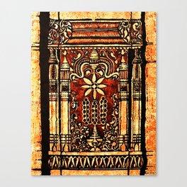 Bohemian Carvings Canvas Print