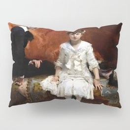 John Singer Sargent - Portrait of Édouard and Marie-Louise Pailleron Pillow Sham