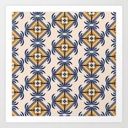 Island Palm pattern Art Print