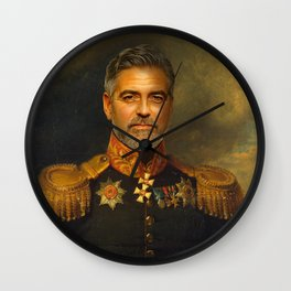 George Clooney - replaceface Wall Clock