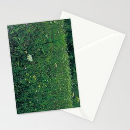 deep grassy Stationery Cards