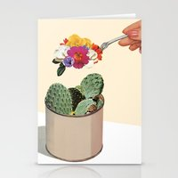 succulent Stationery Cards featuring SUCCULENT by Beth Hoeckel