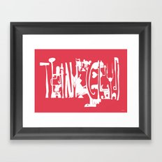 Think Ghandi Framed Art Print