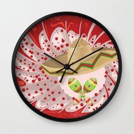 Sombrero and maracas Wall Clock