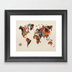 world map retro Framed Art Print
