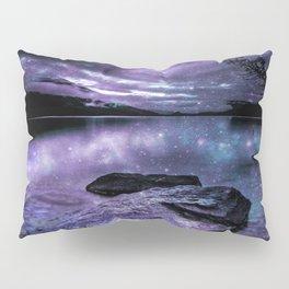 Magical Mountain Lake Purple Teal Pillow Sham