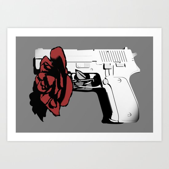 Hate kills love Art Print