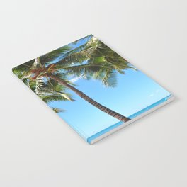 Palm Tree with Hawaii Summer Sea Beach Notebook