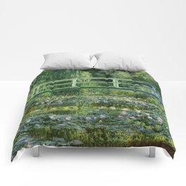 Water Lilies and Japanese Footbridge, Claude Monet Comforters