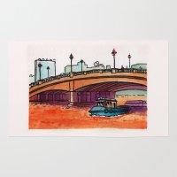 phil jones Area & Throw Rugs featuring Jones Bridge by Ryan Sumo