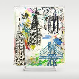 New York City Buildings Shower Curtain