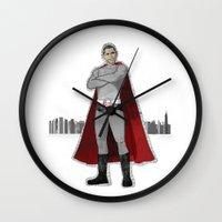 obama Wall Clocks featuring Obama by MJOillustration