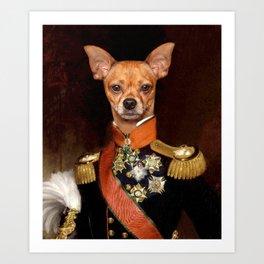 Admiral Chihuahua Art Print