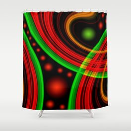 Abstract 94 Shower Curtain