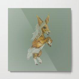 Fairy-tale Chestnut Miniature Horse Metal Print