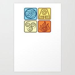 Louies Avatar Symbols Art Print