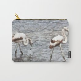 Be A Flamingo Watercolor Carry-All Pouch