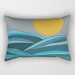 The ocean, waves and sun Rectangular Pillow