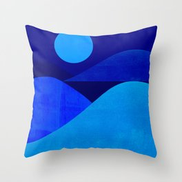 Abstraction_Moonlight Throw Pillow