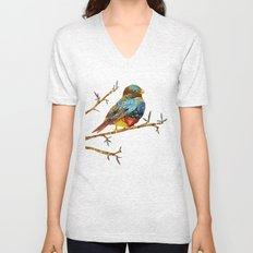Twilight Bird Unisex V-Neck