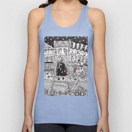 After Hours at the Christmas Market Unisex Tank Top