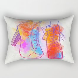 Color Shoes Rectangular Pillow