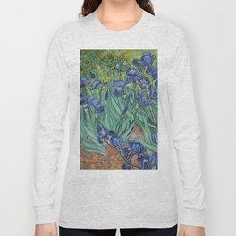 Irises by Vincent van Gogh Long Sleeve T-shirt