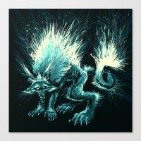werewolf Canvas Prints featuring Werewolf. by Danilo Sanino