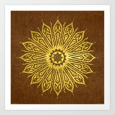 ozorahmi copper mandala Art Print