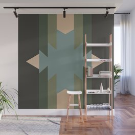 Green Star  - does it belong in the Forest or in the Space?? Wall Mural