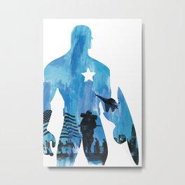Capt. America Metal Print