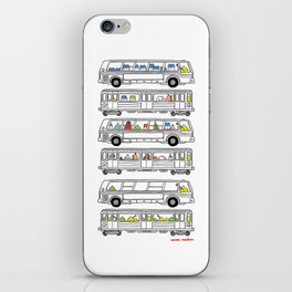 """Pop and Pals: Commuting""  iPhone Skin"