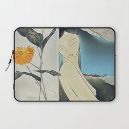 La Creature aux Fleurs, female form nude with marigolds portrait painting by Georges Yatrides Laptop Sleeve