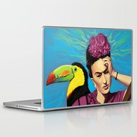 frida kahlo Laptop & iPad Skins featuring Frida Kahlo by Brad Collins Art & Illustration