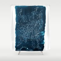 night sky Shower Curtains featuring Night sky by Dreamy Me