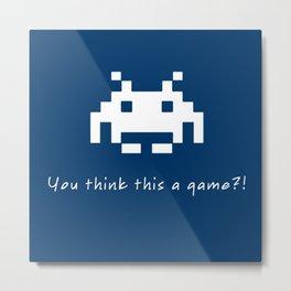 Invader Games Metal Print