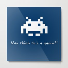 Invader Games Metal Print