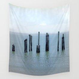 Tokeland, Willapa Bay, Washington Pier, River Pilings Wall Tapestry