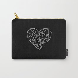 Geometric Abstract - Heart (White) Carry-All Pouch